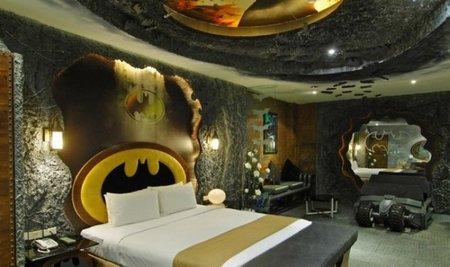 Un dormitorio inspirado en Batman