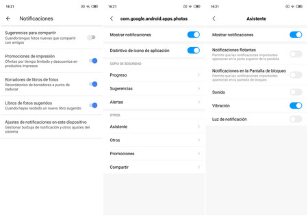 Notifications Google Photos Oreo