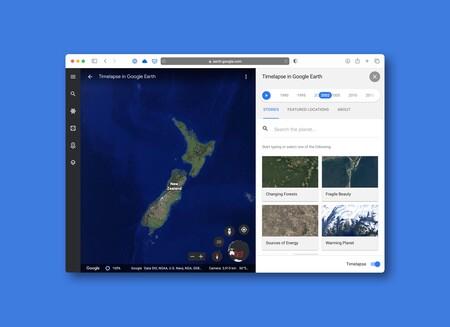 Google Earth añade Timelapse: una función para ver cómo ha cambiado el planeta a lo largo de casi 4 décadas
