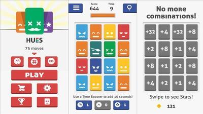 'Hues', un juego para Windows Phone de deslizar y combinar piezas al estilo de Threes y 2048