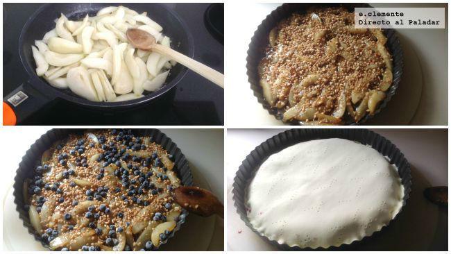 Tarta Pera Caramelizada Arandanos Coll