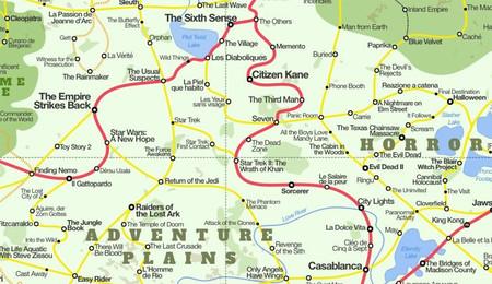 Movieland: el mapa cinéfilo definitivo con más de 1.800 películas y un diseño geográfico perfecto