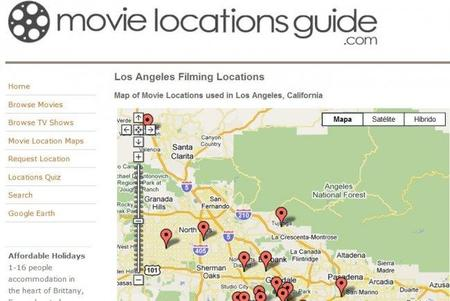 Movie Location Guide, para saber dónde se graban las series y las pelis