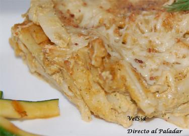Pasta con salsa de calabacín, queso y nueces. Receta