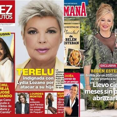 La indignación (y el photoshop) de Terelu Campos, el deseo de Belén Esteban y las confesiones de Esther Doña: estas son las portadas del miércoles 16 de diciembre