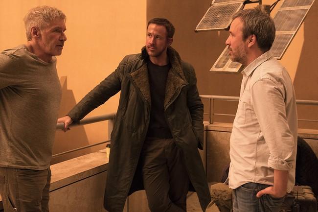 Villeneuve con Harrison Ford y Ryan Gosling