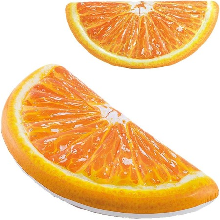 Flotador hinchable piscina con forma de naranja