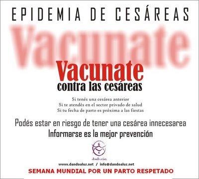 Vacúnate contra la cesárea