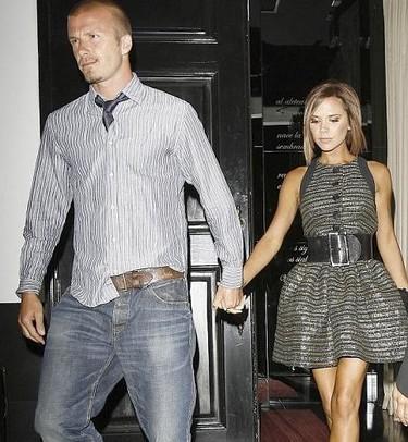 Beckham y su peculiar manera de llevar la corbata