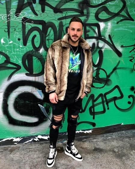 El Mejor Street Style De La Semana Trendencias Hombre Faux Fur Men Fall Winter 2019 04