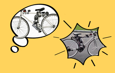 """La historia de """"la venganza"""" tras una accidentada caída que acabó en un prototipo real de bicicleta autónoma y autoestable"""
