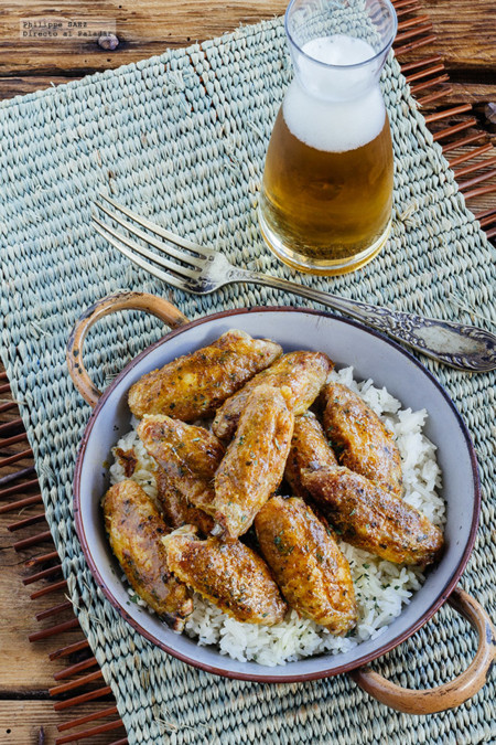 Alitas de pollo al curry. Receta