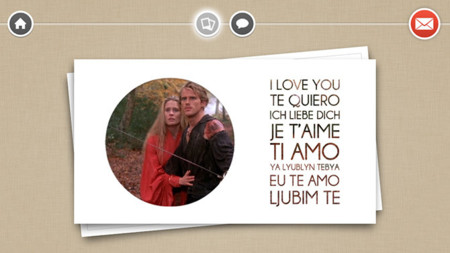 Tarjetas Postales de San Valentín para iPhone