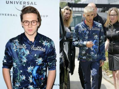 ¿Quién lleva mejor la camisa de Louis Vuitton: Brooklyn Beckham o Zayn Malik?
