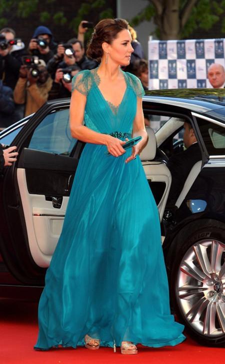 Romántico Kate Middleton Jenny Packham