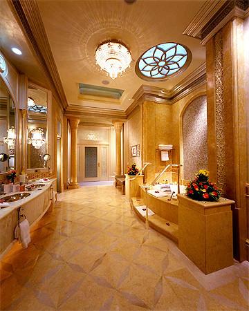 cuarto de baño en el Emirates Palace