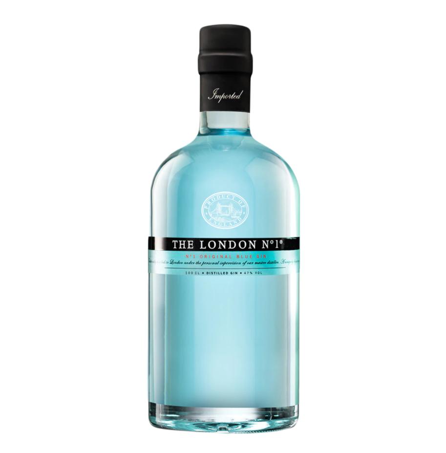 Ginebra The London Nº1 Premium original blue gin. La calidad de los ingredientes de esta ginebra, su método de destilación, su color y el diseño de la botella le confieren su singular carácter y lo convierte en el mejor acompañante de las sobremesas.