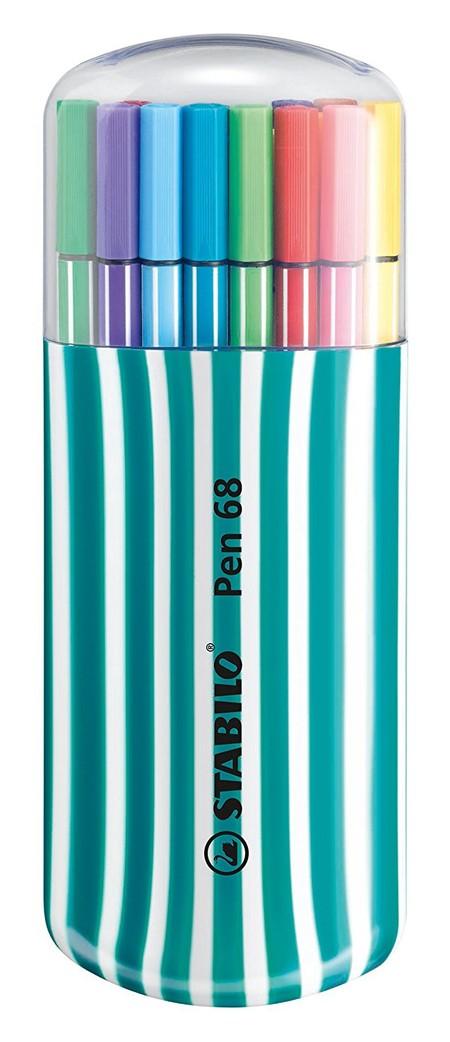 Colorida oferta de Amazon: por 14,35 euros tenemos el estuche Zebrui Stabilo Pen 68 en color turquesa con 20 colores