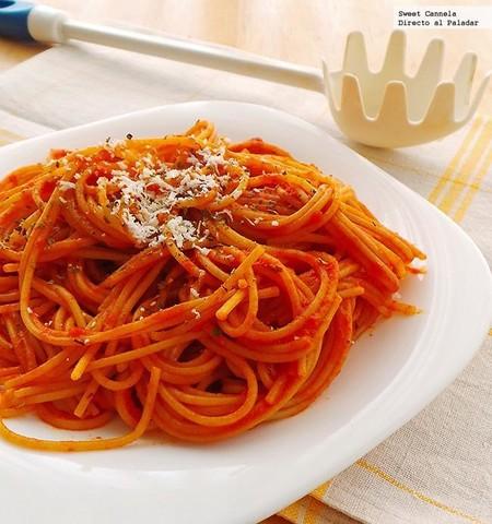 Spagueti Pimiento