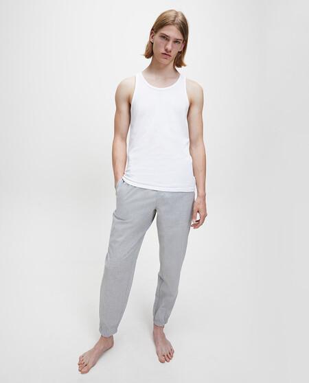 Pack Dos Camisetas Interiores De Hombre Calvin Klein Blancas De Manga Corta