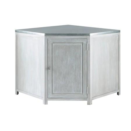Mueble Bajo De Cocina Esquinero De Hevea Gris L 99 Cm 1000 13 30 140824 3