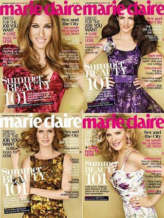 Las chicas de Sexo en Nueva York portada de Marie Claire