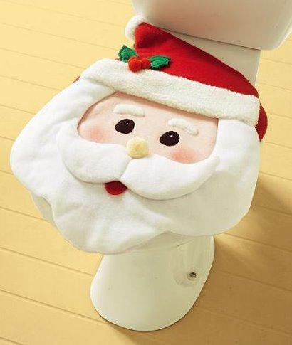 Decoración navideña: Papá Noel hasta en el inodoro