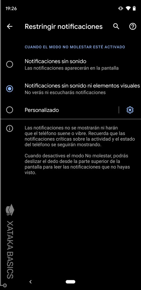 Restringir Notificaciones