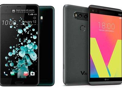 HTC U Ultra y LG V20, frente a frente: cuatro pantallas para sólo dos teléfonos