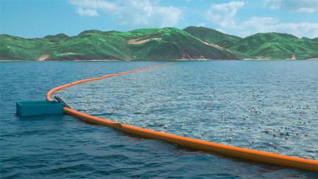 Una estructura flotante de más de 2 km de largo para limpiar el mar de plásticos