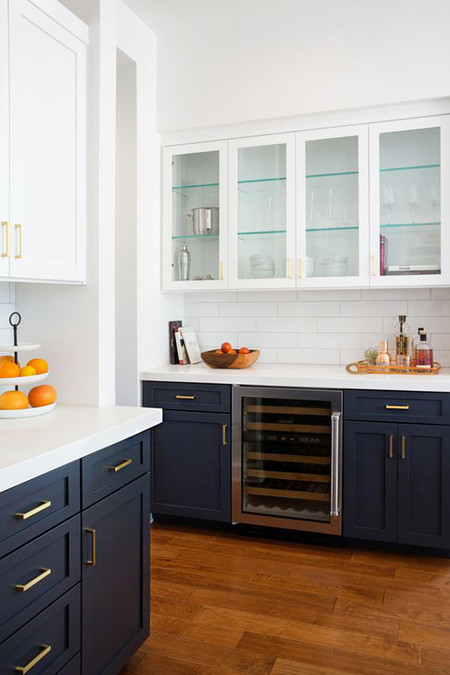 Muebles Azules Cocina 1