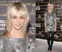 Taylor Momsen con un vestido de estilo rockero de Alexander Wang