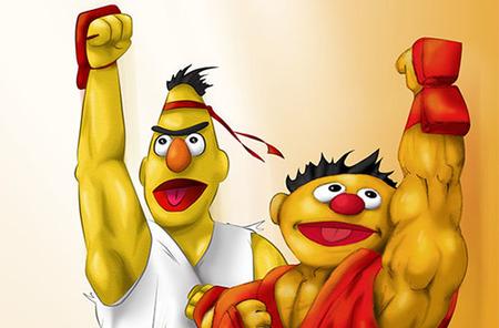 En Barrio Sesamo se disfrazan de 'Street Fighter'