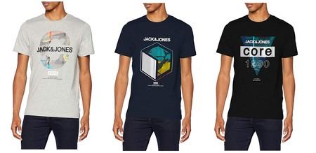Desde 4,76 euros podemos hacernos con una de estas camisetas Jack & Jones Jcosolo tee SS Crew Neck WHS en Amazon