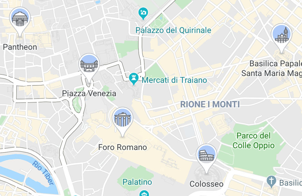 Google Maps adds icons with the emblematic monuments of the most tourist cities