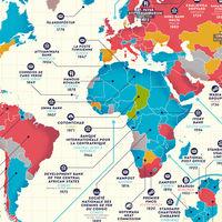 Las empresas más antiguas del mundo aún en funcionamiento, ilustradas en estos magníficos mapas