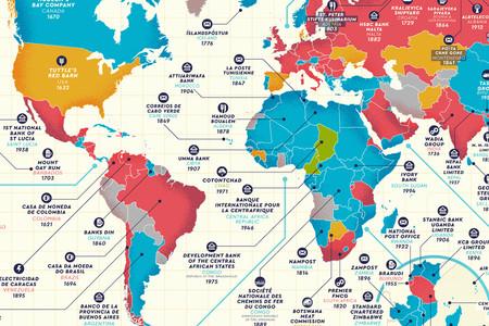 Las empresas más antiguas del mundo aún en funcionamiento, reunidas en estos magníficos mapas