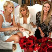 Paris Hilton de Chick by Nicky Hilton en la Baby Shower de Nicole Richie