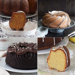 12 recetas de bundt cakes para lucirte con el dulce estadounidense que no sabe si es un bizcocho o un pastel