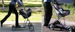 Roller buggy: un carrito de bebés con patinete