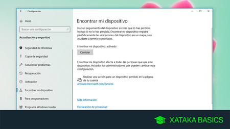 Cómo encontrar tu portátil con Windows 10 perdido con 'Encontrar mi dispositivo'