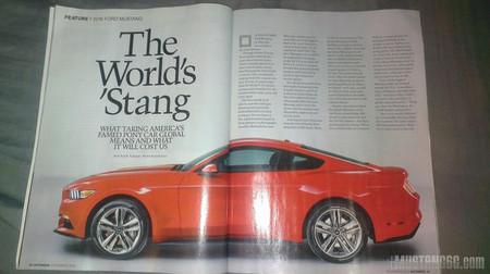 2015 Ford Mustang, emergen las primeras imágenes oficiales en una revista