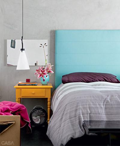 Dormitorio chic colorido