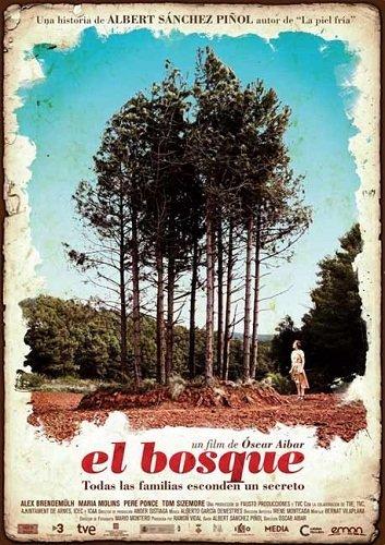 Imagen con el cartel de 'El bosque (El bosc)'