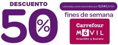 4 céntimos/minuto/SMS los fines de semana con Carrefour Móvil este verano