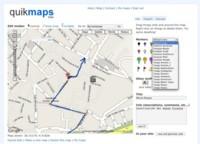 Quickmaps, dibuja encima de los mapas