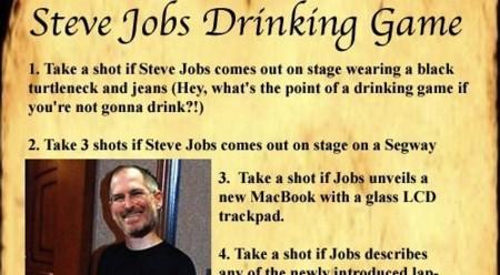 Si lo del bingo os parecía poco... El juego para beber de Steve Jobs