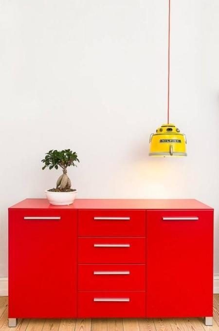 Recicladecoración: lámparas creadas con viejas aspiradoras de Nilfisk