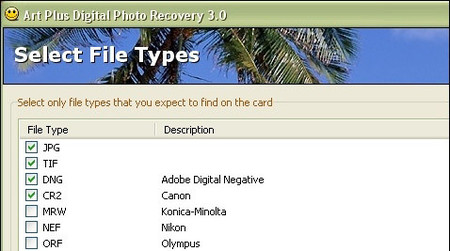 Art Plus Digital Photo Recovery: para recuperar fotos borradas