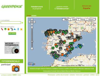 Fotodenuncias ecológicas de Greenpeace